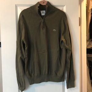 Men's Lacoste pull over sweater